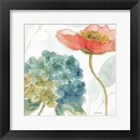 Framed Rainbow Seeds Flowers IV
