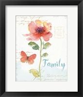 Framed Rainbow Seeds Floral IX Family