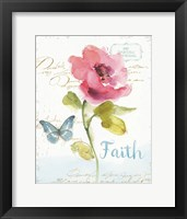 Framed Rainbow Seeds Floral VI Faith