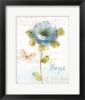 Framed Rainbow Seeds Floral VII Hope