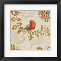 Framed Bird Rainbow Red
