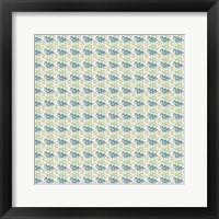Framed So Hexy Green Pattern