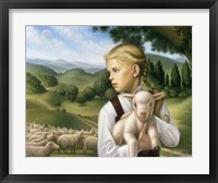 Framed Girl With Lamb