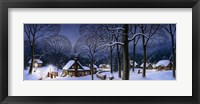 Framed Winter Scene Carollers