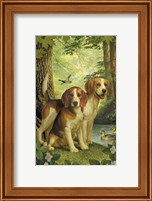 Framed Beagles And Duck
