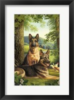 Framed German Shepards/Chicken