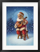 Framed Singing Santa I