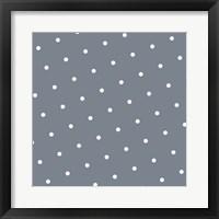 Framed White Polka Dots on Grey