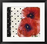 Framed Scarlet Poppies I