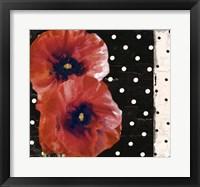 Framed Scarlet Poppies II