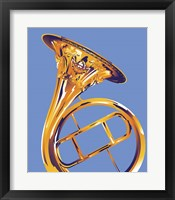 Framed French Horn 8