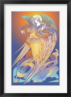 Framed New Angel With Harp