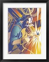 Framed Welder's Spark
