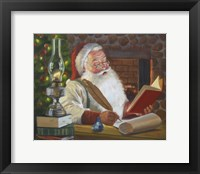 Framed Santa Making A List