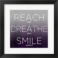 Framed Reach, Breathe, Smile (purple)