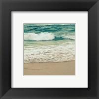 Framed Teal Waves I