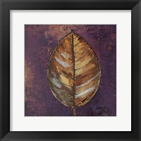 Framed New Leaves I (Purple)