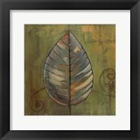 Framed New Leaves II (Green)