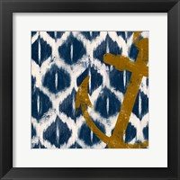 Framed Nautical Ikat I