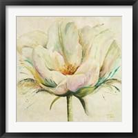 Framed White Double Tulips II