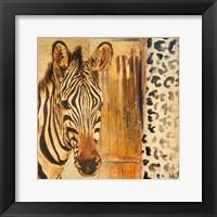 Framed New Safari on Gold Square I