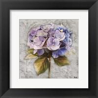 Framed Lavender Flourish Square I