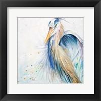 Framed New Blue Heron II
