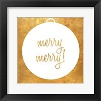 Framed Christmas Ornament II (gold foil)