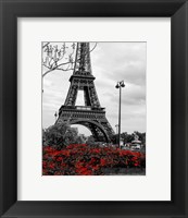 Framed Eiffel Tower with Red Pop