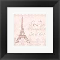 Framed Elegant Paris Square III