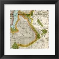 Framed Vintage New York Map II