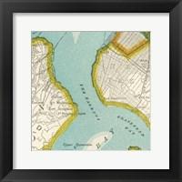 Framed Vintage New York Map III