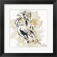 Framed Free Spirit in Gold II