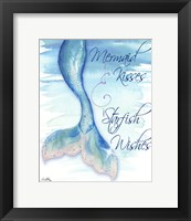 Framed Mermaid Tail I (kisses and wishes)