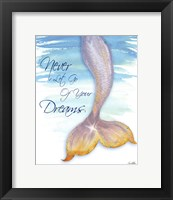 Framed Mermaid Tail II (never let go of dreams)