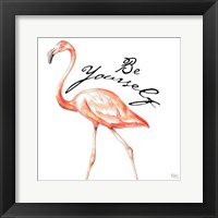 Framed Be Different Flamingo II