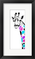 Framed Multicolored Giraffe II