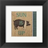Framed Rise & Shine Farm Fresh I