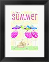 Framed Flamingo Summer II