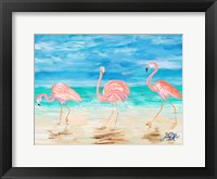Framed Flamingo Beach II