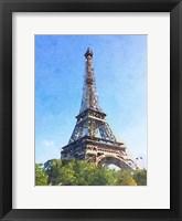 Framed Watercolor Streets of Paris II