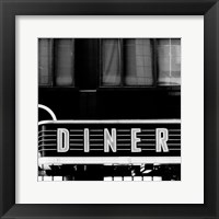Framed B&W Diner