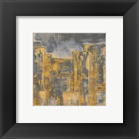 Framed Gold City Eclipse Square II