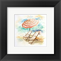 Framed Umbrella On The Beach I