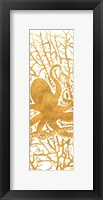 Framed Sealife on Gold I