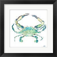 Framed Sea Life in Blues II (crab)