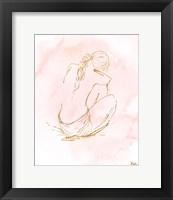 Framed Nude on Pink I
