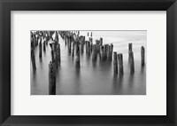Framed Hudson River Pilings