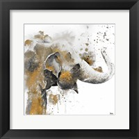Framed Water Elephant with Gold