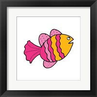 Framed Whimsical Sea Creatures I